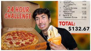 Letting The Person in Front of Me DECIDE What I Eat for 24 HOURS! (Insane Food Challenge)