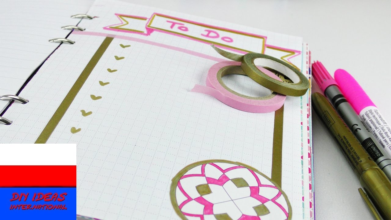 Ozdabianie notesu, kalendarza | lista rzeczy do zrobienia | to do list
