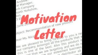Motivation/Cover Letter For Visa Interview - Germany