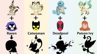 Requests #4 - Pokemon x Superhero: Squirtle as Deadpool, Meowth as Catwoman and MORE