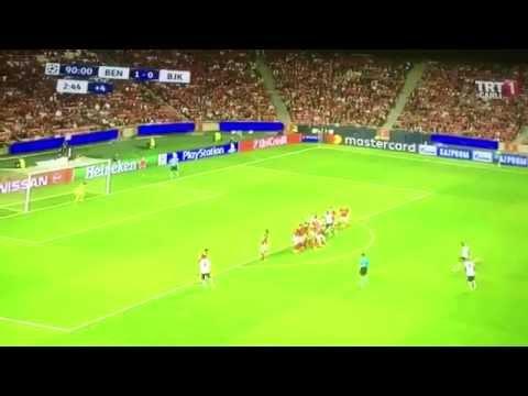 Anderson Talisca Son Dakika Gol Benfica 1-1 Beşiktaş