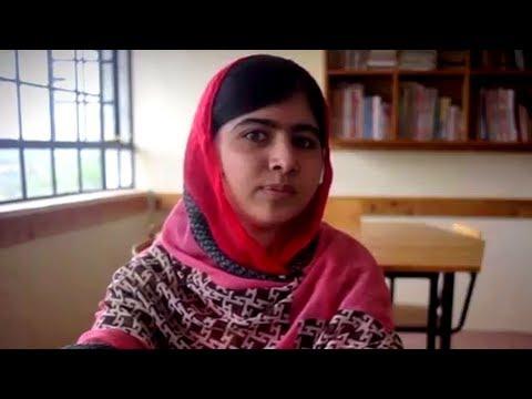 Malala Yousafzai tells Syrian refugee Mazoun's story
