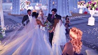The Wedding of Prince Shadow & Princess Swis, Princess Gail, Princess 0cienne in Second Life