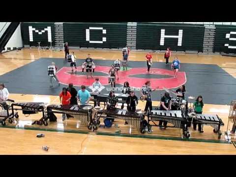 Murray County High School Indoor Drumline - Masque 2013