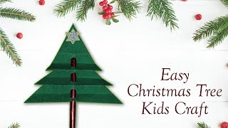 How To Make Easy Paper Christmas Tree | Easy Christmas Craft For Kids