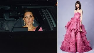 Kate Middleton's pink gown at Prince Charles's birthday - Fans think Kate wear Marchesa