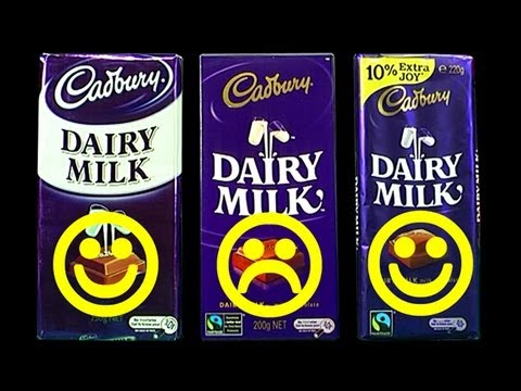 Cadbury Chocolate Up-Size Back-Flip Downsize Fail Consumer Backlash Effect Extra Joy