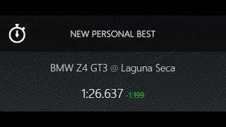 Assetto Corsa -- BMW Z4 GT3 -- Laguna Seca -- Carrera -- 1:26.637
