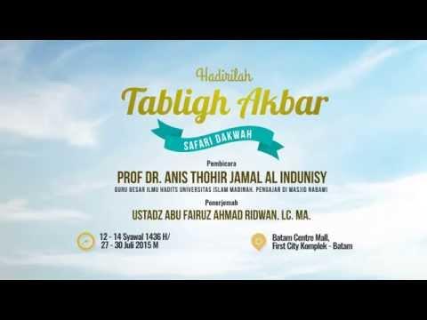 Promo Safari Dakwah   Syaikh Prof Anis Jamal AL Indunisy