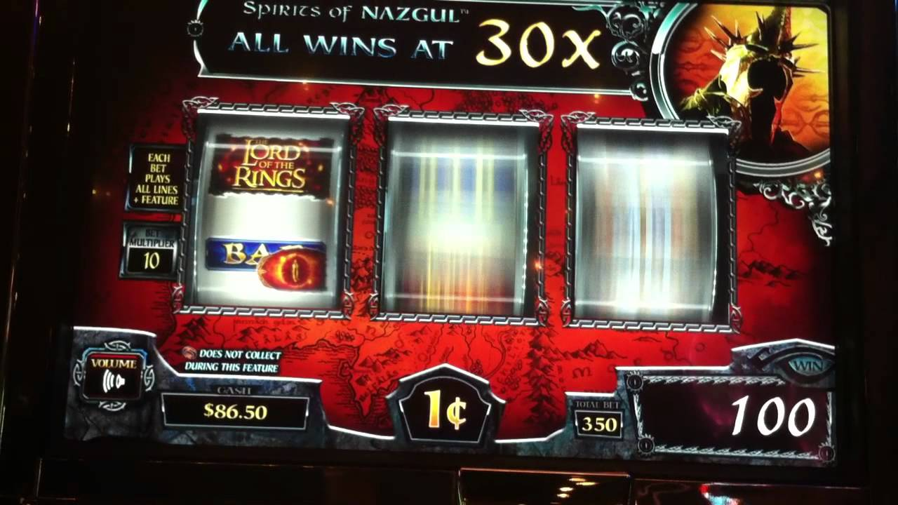 free video slots lord of the rings