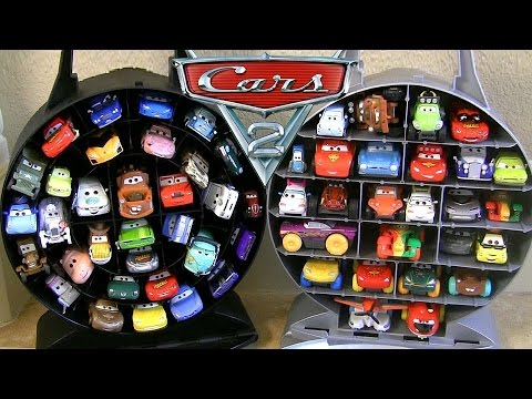 Pixar Cars Garage Storage Carry Case Stores 33 Cars