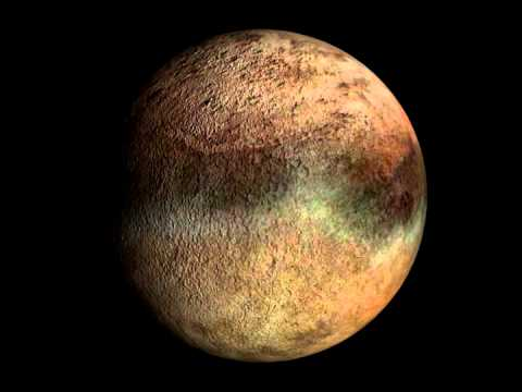 Rotation 3D n°1 de Triton, satellite de la planète Neptune