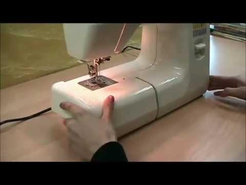 Видео как заправить швейную машинку