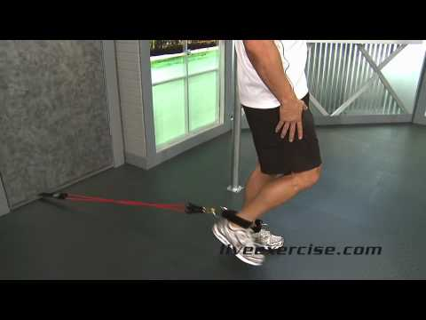 Leg Extensions Exercise with Resistance Bands Image 1