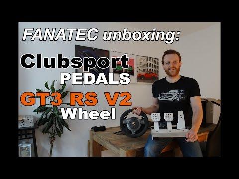 Fanatec Clubsport Pedals & Porsche 911 GT3 RS V2 unboxing!