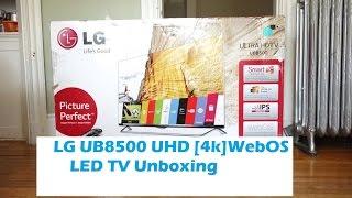LG 55 inch UHD WebOS LEDTV [55UB8500]: Unboxing & First Setup