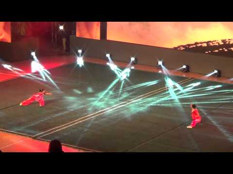 3 min of super action Wushu! @ Opening Ceremony of the 12th World Chin Woo Championships