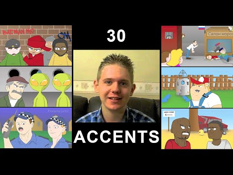 The English Language In 30 Accents (Animated)