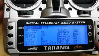 FrSky Taranis throttle failsafe programming