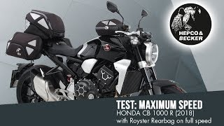 Test: Royster Rearbag on full speed with HONDA CB 1000 R