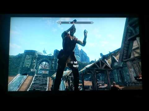 Skyrim Glitch - Sigurd the Hovering Builder