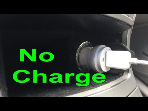 Car charger not working FIX Cigarette lighter socket repair auxiliary power outlet fuse replacement