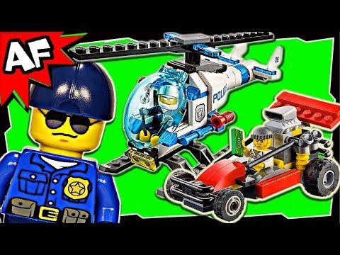 Police HELICOPTER Transporter 60049 Lego City Animated Building Review