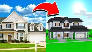 BUILDING MY REAL LIFE HOUSE IN MINECRAFT!