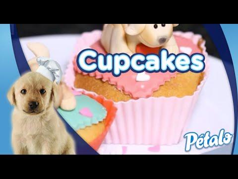 Receta para preparar Cupcakes. Tu Cocina Pétalo®