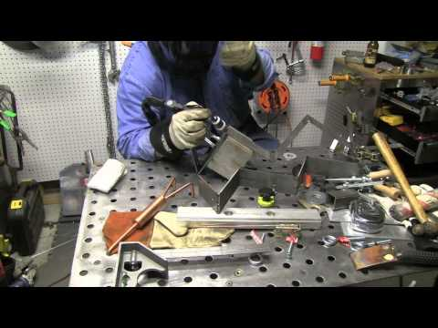 Welding Cart Project part 5 - Making Brackets for the Gas Cylinders