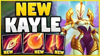 REWORKED KAYLE IS 100% THE MOST OP CHAMPION NOW?! S9 KAYLE REWORK GAMEPLAY! - League of Legends