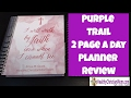 Purple Trail 2 Page A Day Planner Review mp3