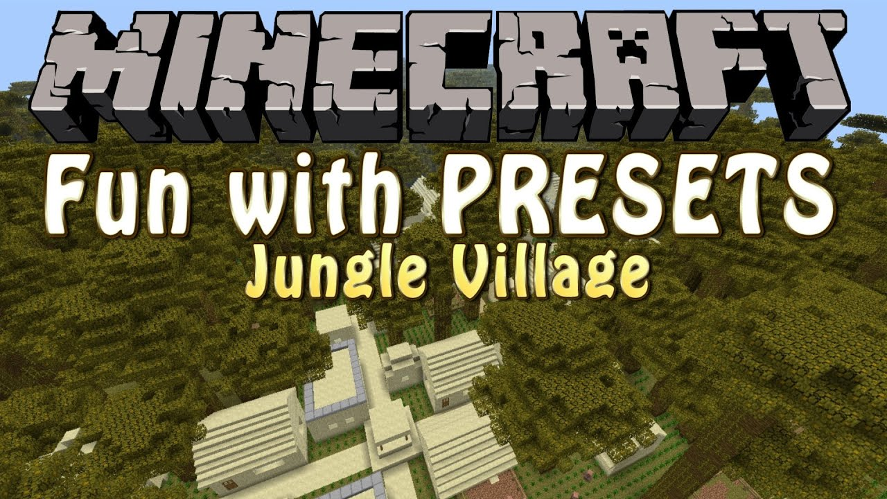 how to make a custom preset in minecraft