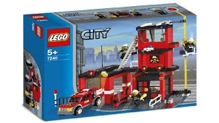 7240 LEGO Fire Station City Fire (instruction booklet)