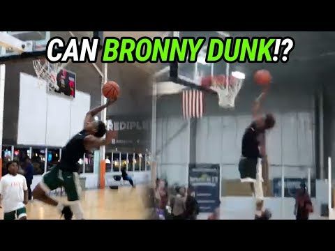 Bronny James Attempts FIRST DUNK! Blue Chips Force Team To FORFEIT