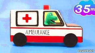Pretend Play DIY Ambulance Build Playhouse for Children