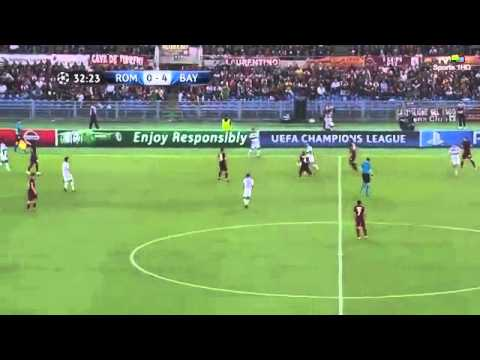 AS Roma vs Bayern Munich 1 7 FULL MATCH ~ Champions League 21 10 2014 HD