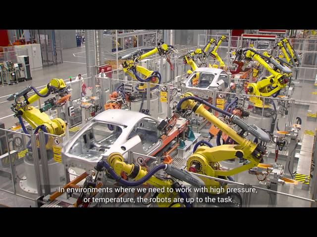 FANUC ipari robotok az AUDI Hungariánál - YouTube