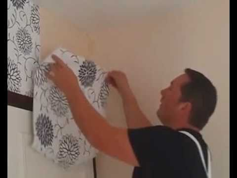 wallpapering a feature wall..