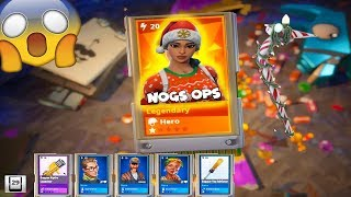 WINTER LLAMA Opening - Christmas Skins Are Here & RARE ITEMS! Fortnite Save The World