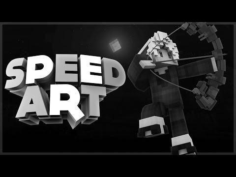 MINECRAFT BANNER SPEED ART - Senyou [12] [Dual w/KaHoole] [Black&White]