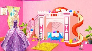 Barbie is cleaning the house - game kids toys
