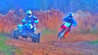 QUAD vs Dirt Bike!