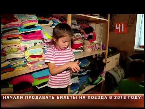 Семья  с 9 детьми ютится в комнате общежития