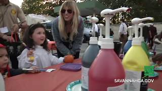 Pumpkin Painting with Police