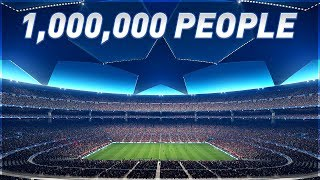 Playing in a Stadium with 1 MILLION People (PES 2018)