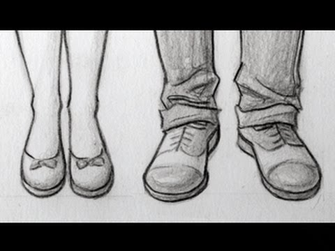 How to Draw Feet/shoes Front