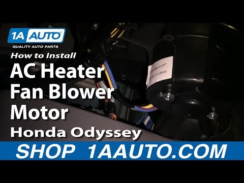 How To Install Replace AC Heater Fan Blower Motor Honda Odyssey 99-04 1AAuto.com