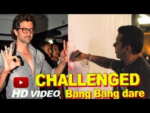 Hrithik Roshan speaks on Salman Khans Bang Bang DARE!
