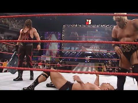 The Rock, Theodore Long & Jack Doan vs. Kane & Rikishi: Raw, Jan. 8, 2001 thumbnail